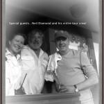 Neil Diamond aboard Valara July 4, 2012