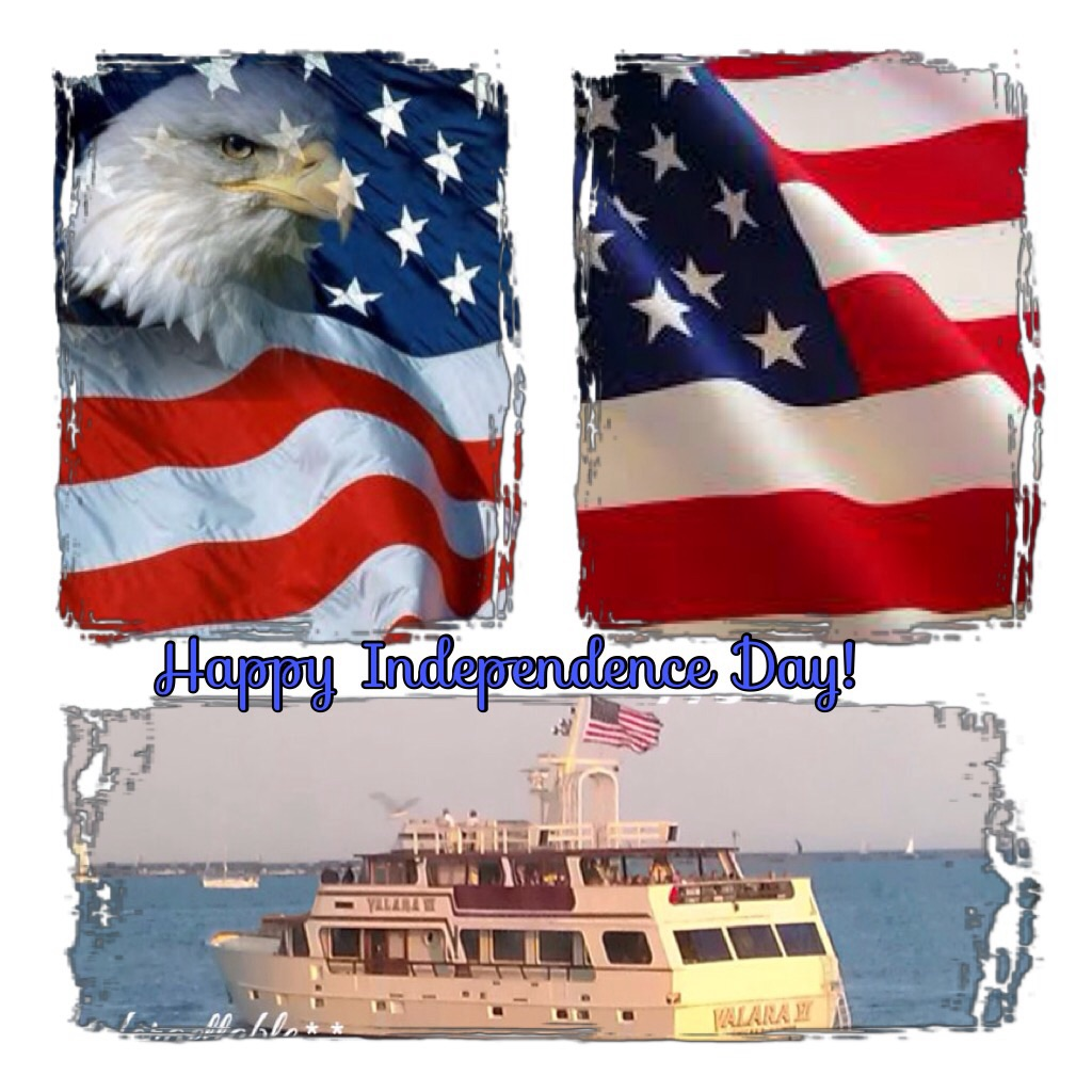 Happy Independence Day from Chicago's entertaining yacht crew of M/V VALARA